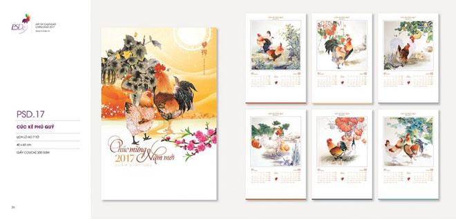 Bộ lịch treo tường 7 tờ chào mừng năm mới – Mã BS 01