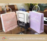 In túi giấy kraft dây quai giấy cho các shop thời trang