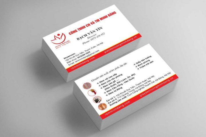 Dịch vụ in danh thiếp- card visit đẹp, uy tín tại Bắc Việt