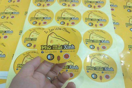 In sticker dán Phô Mai Xinh