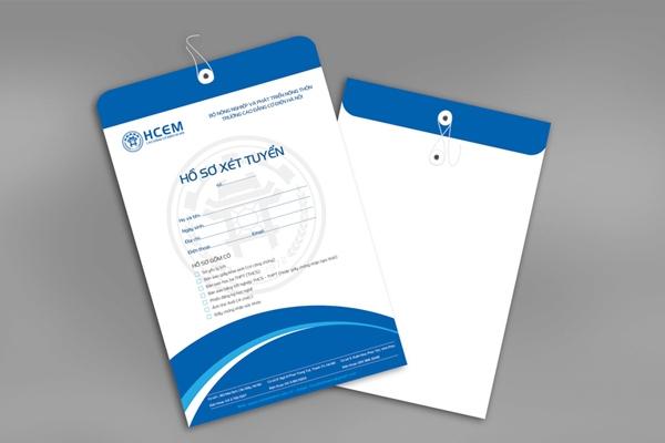Mẫu phong bì hồ sơ xét tuyển