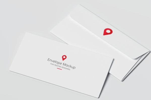 Mẫu phong bì thư trắng đơn giản