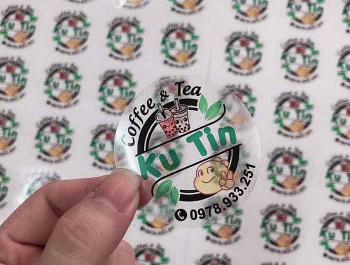 in logo trong dán