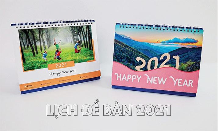 In lịch để bàn 2021 tại In Bắc Việt