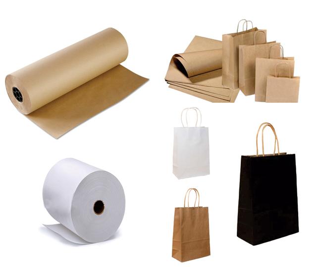 Chất liệu giấy kraft trắng và kraft vàng