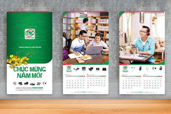 Nhận In lịch treo tường 2020 tại Hà Nội