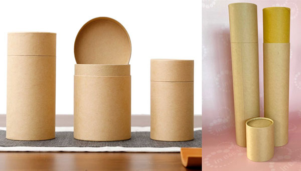 Hộp trụ tròn giấy kraft